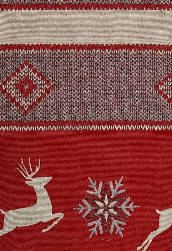 Tissu Rennes rouge (Cat.2)